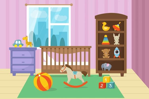 Intérieur de la chambre des enfants de dessin animé avec ...