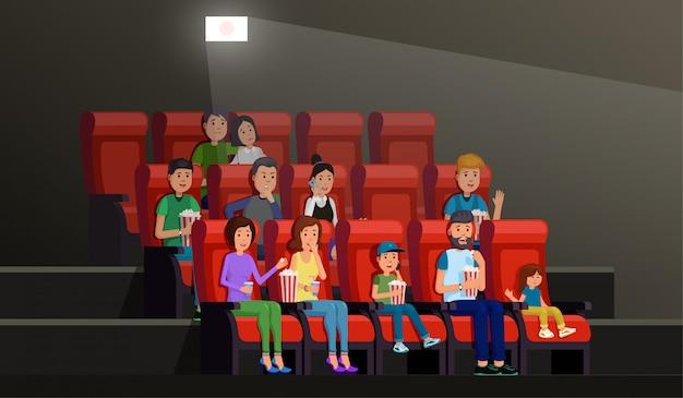 Intérieur Cinéma Vecteur Premium