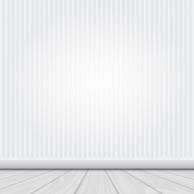 Intérieur De La Chambre Avec Un Mur Blanc Et Plancher En Bois