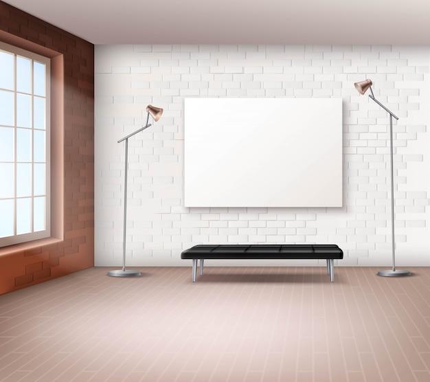 Intérieur de loft réaliste Vecteur gratuit