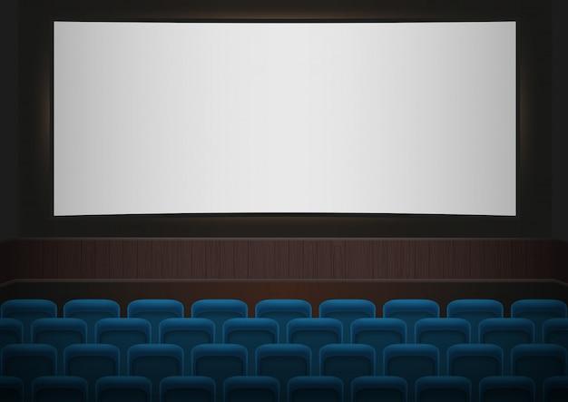 Intérieur D'une Salle De Cinéma Vecteur Premium