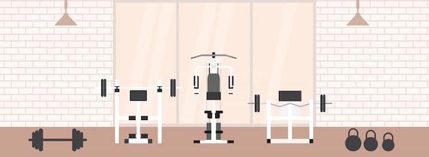 Interieur D Une Salle De Sport Avec Equipements Sportifs Et Cardio
