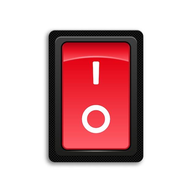 Interrupteur à bascule icône rouge. Vecteur Premium