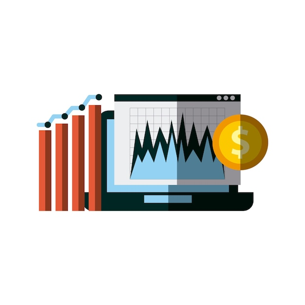 Investir de l'argent et du design d'entreprise Vecteur Premium