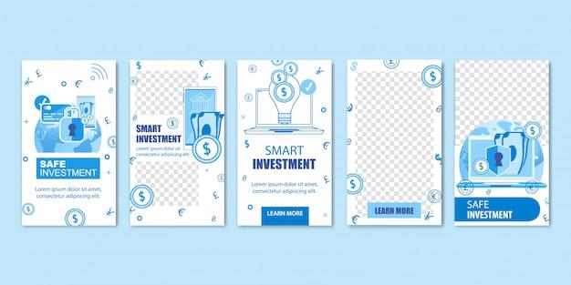 Investissements intelligents en ligne, argent liquide, pièces de monnaie. Vecteur Premium