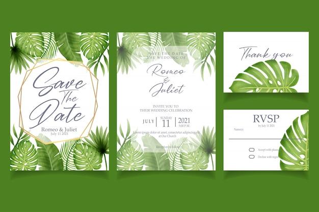Invitation aquarelle bel été tropical Vecteur Premium