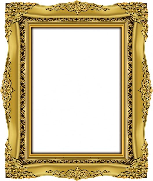 Invitation de conception de vecteur golden photo frame Vecteur Premium