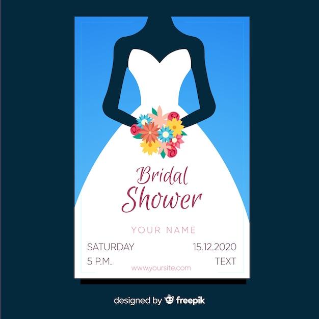 Invitation de douche nuptiale Vecteur gratuit