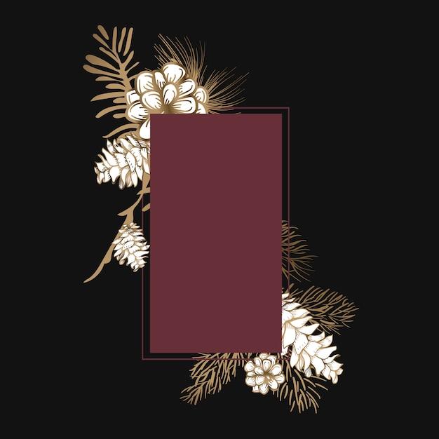Invitation florale vierge Vecteur gratuit