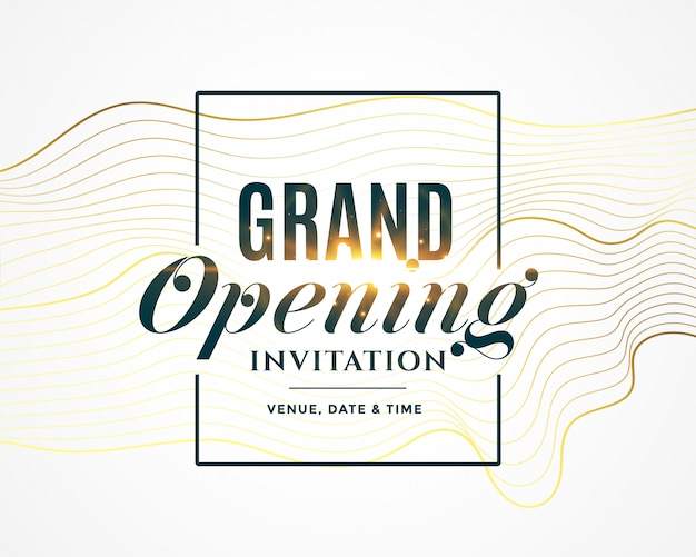 Invitation de grande ouverture Vecteur gratuit