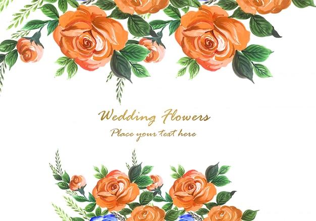Invitation De Mariage Aquarelle Fleurs Décoratives Fond De Carte Vecteur gratuit