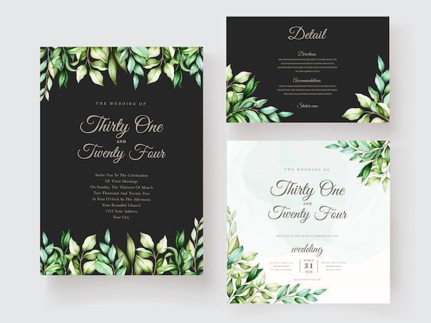 Invitation De Mariage Avec Un Beau Design De Décoration Florale Vecteur gratuit