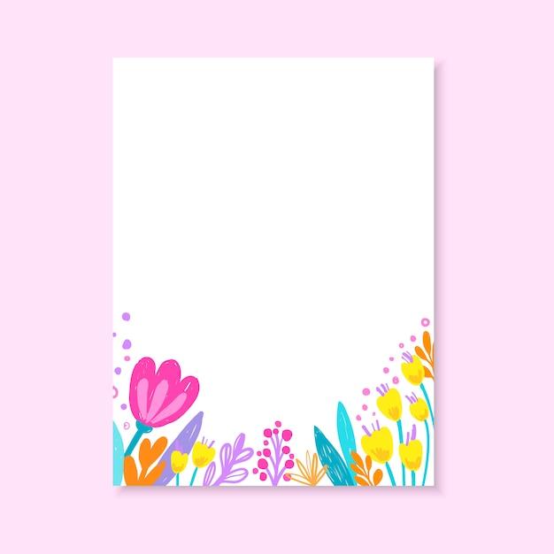 Invitation de mariage, ou carte d'anniversaire, invitation florale, carte moderne avec fleurs dessinées à la main. Vecteur Premium