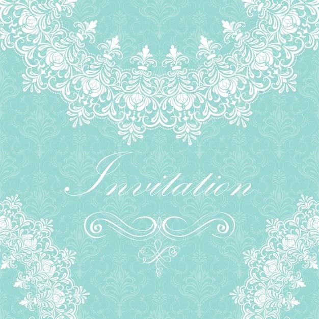 Invitation de mariage et carte d'annonce avec dentelle ornementale ronde avec des éléments arabesques. mehndi style. orienter l'ornement traditionnel. ornement floral de couleur ronde zentangle. Vecteur gratuit