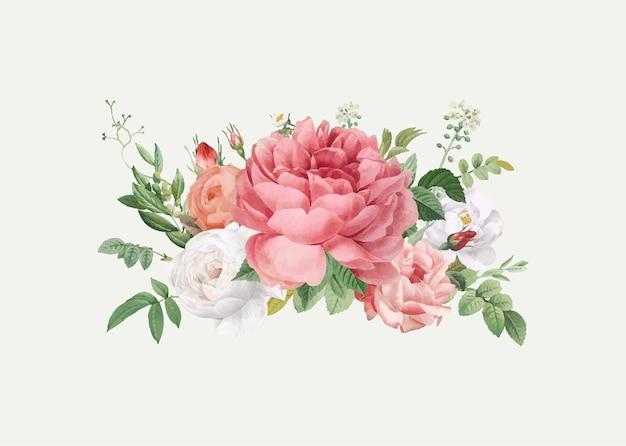 Invitation De Mariage De Conception Florale Vecteur gratuit