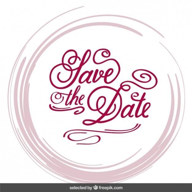 Invitation De Mariage Dans Le Style De Lettrage Vecteur gratuit