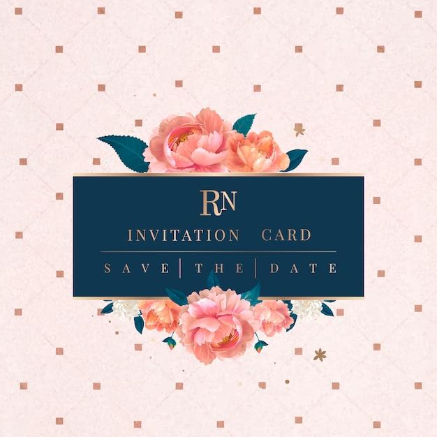 Invitation de mariage d'été Vecteur gratuit