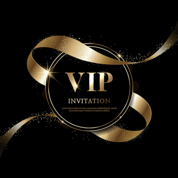 Invitations Vip De Luxe Et Arrière-plans De Coupon Vecteur Premium