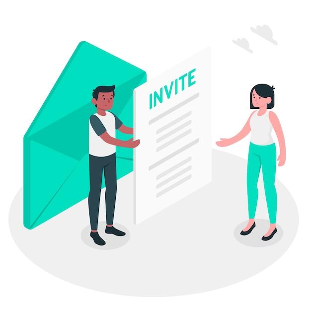 Inviter illustration de concept Vecteur gratuit