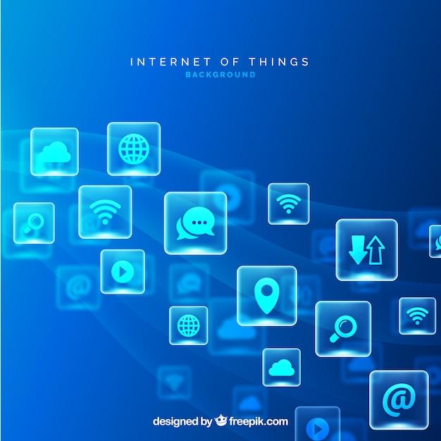 Iot Background Design Vecteur gratuit