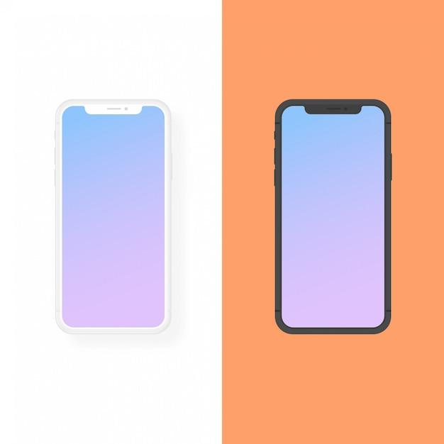 Iphone argile et maquette de vecteur de conception plate Vecteur Premium