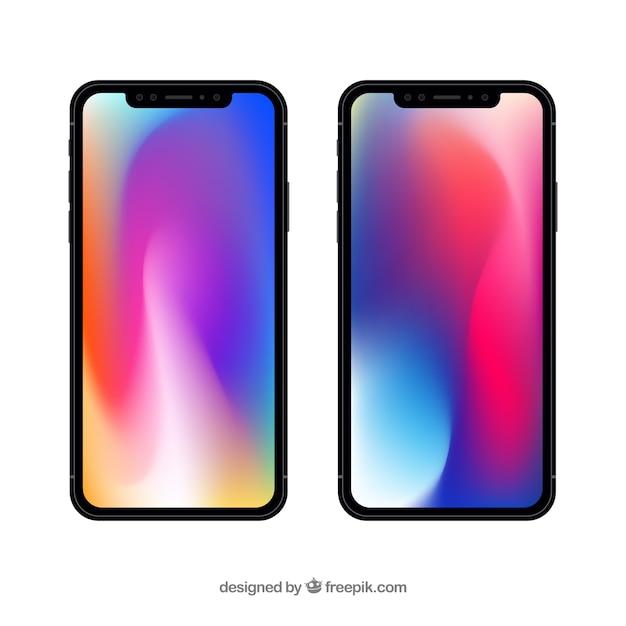 Iphone X Avec Fond D Ecran Degrade Telecharger Des
