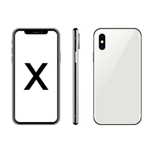 Iphone x maquette Vecteur Premium