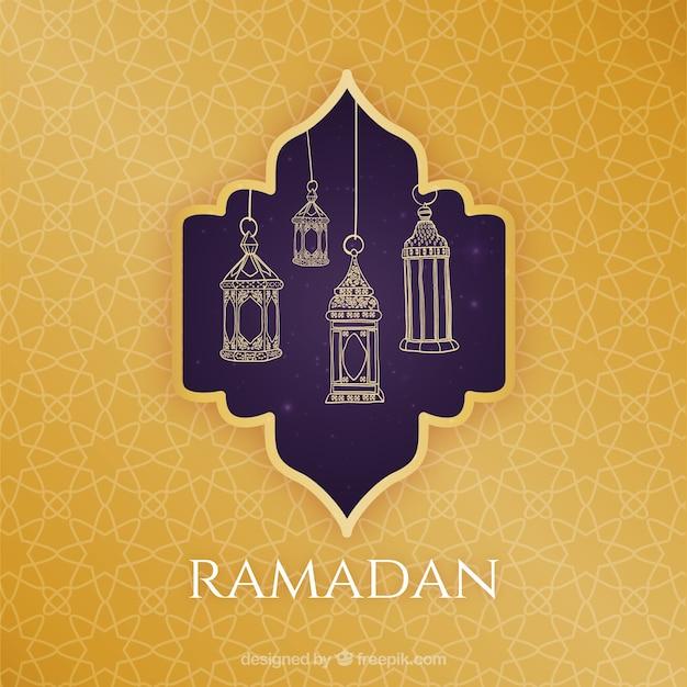 Islamiques modèle de carte de voeux pour le ramadan kareem ou