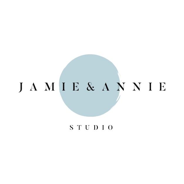 Jamie et annie vector logo studio Vecteur gratuit