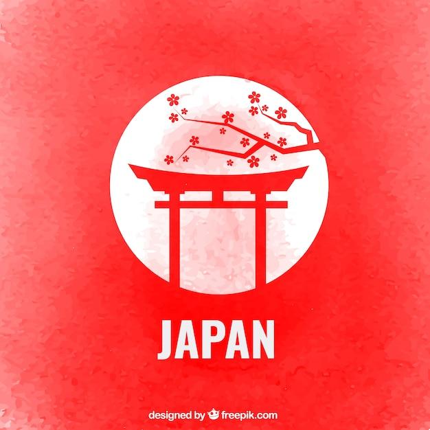 Japan Background Vecteur Premium
