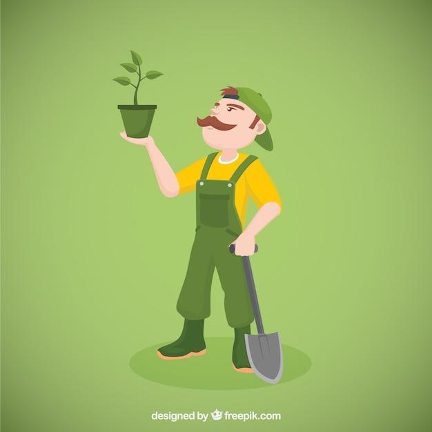 Jardinier Vecteur gratuit