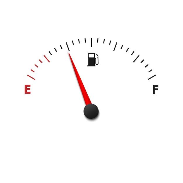 Jauge de carburant vide Vecteur Premium