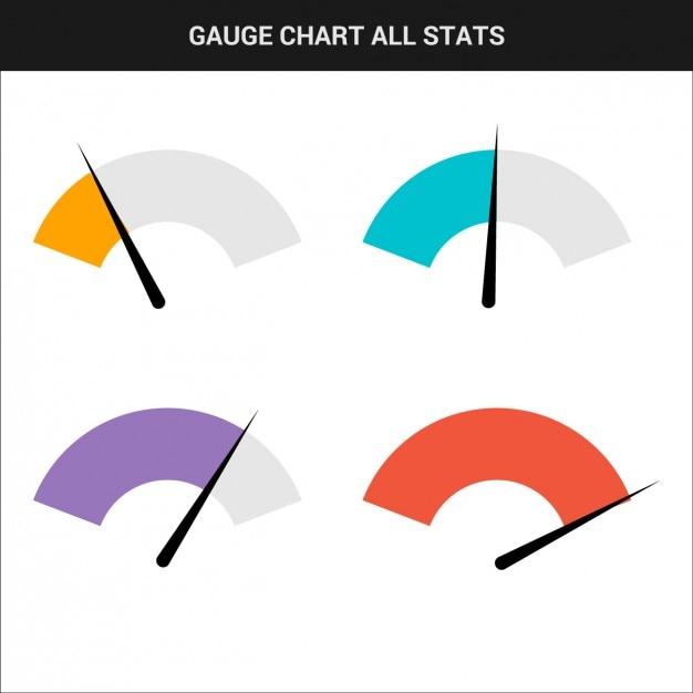 Jauge graphique collection Vecteur gratuit