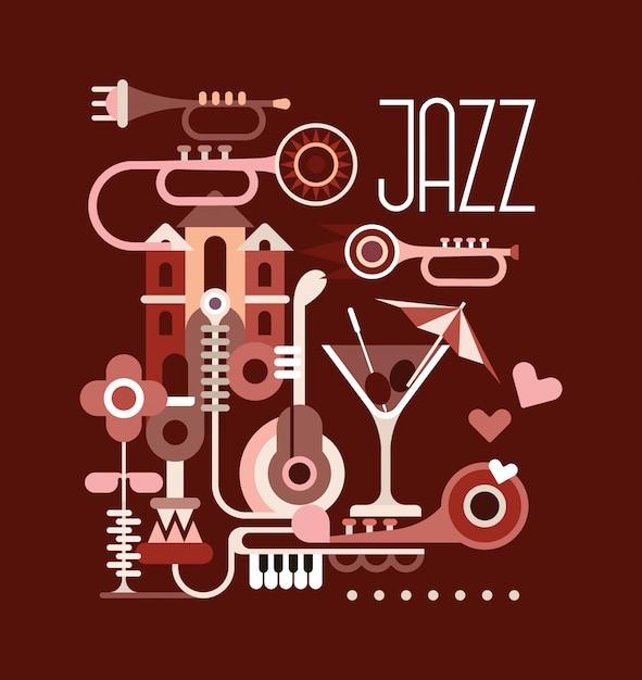 Le jazz Vecteur Premium