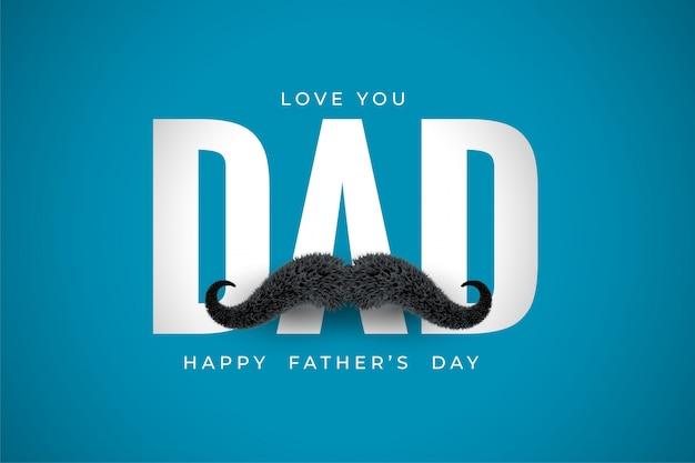 Je T'aime Papa Message Pour Les Voeux De Fête Des Pères Vecteur gratuit
