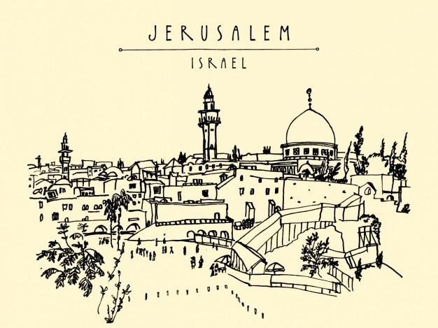 Jérusalem Design Fond Vecteur gratuit