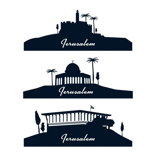 Jerusalem skyline Vecteur gratuit