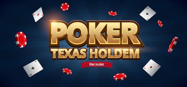 Jetons de casino, cartes et lieu de texte Vecteur Premium