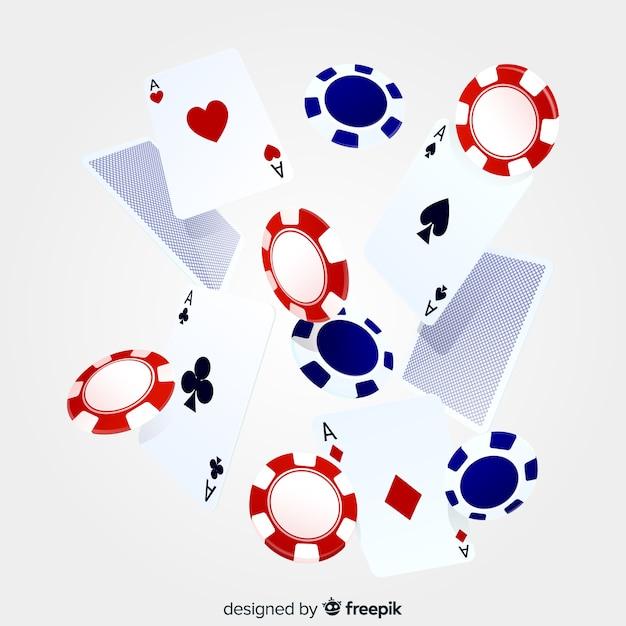 Jetons de casino réalistes Vecteur gratuit