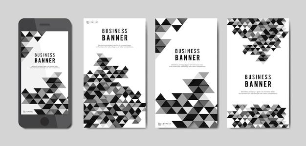 Jeu de bannière abstrait business Vecteur gratuit