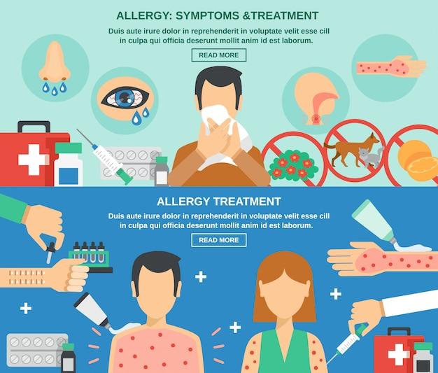 Jeu de bannière d'allergie Vecteur gratuit