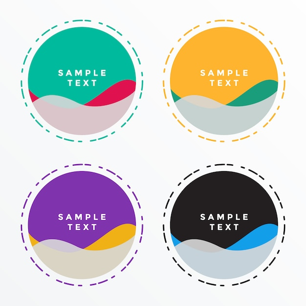 Jeu de bannières de forme de cercle abstrait Vecteur gratuit