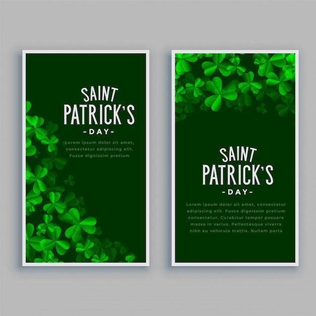 Jeu De Bannières Verticales St. Patricks Day Vecteur gratuit