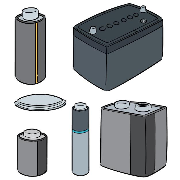 Jeu de batterie vectorielles Vecteur Premium