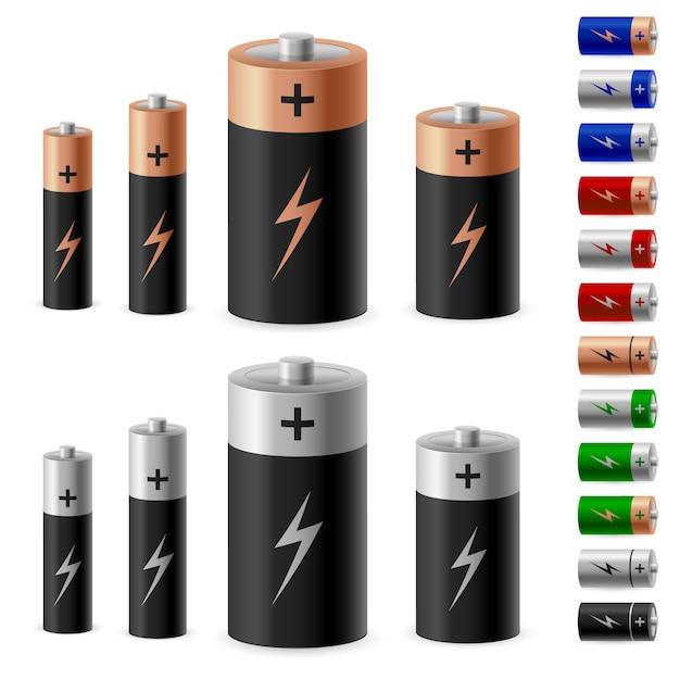 Jeu De Batterie Vecteur Premium