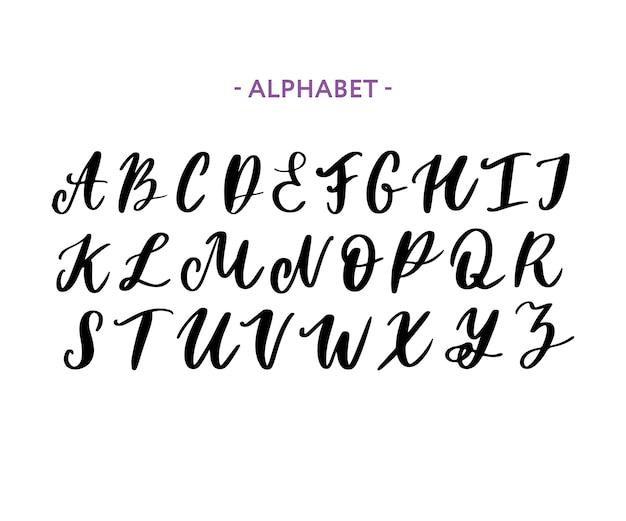 Jeu de caractères dessinés à la main isolé sur blanc Vecteur Premium