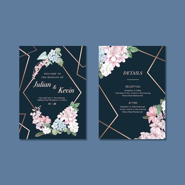 Jeu de cartes de désherbage floral Vecteur gratuit