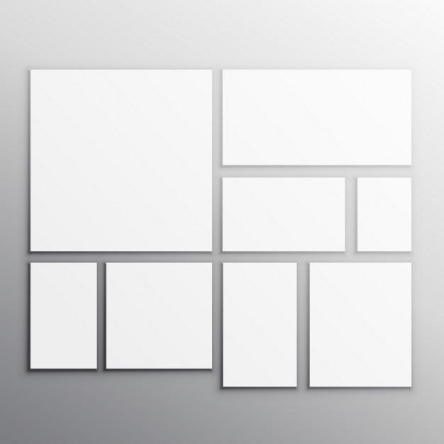 Jeu de cartes facettisés blanches Vecteur gratuit