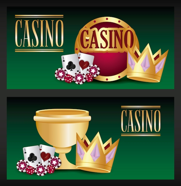 Jeu de casino Vecteur gratuit