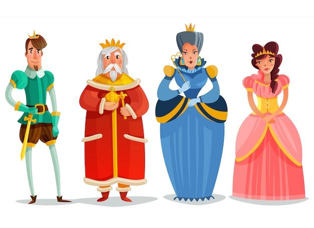 Jeu de dessin animé de personnages féeriques Vecteur gratuit